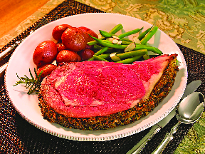 Prime rib in our restaurant & bar