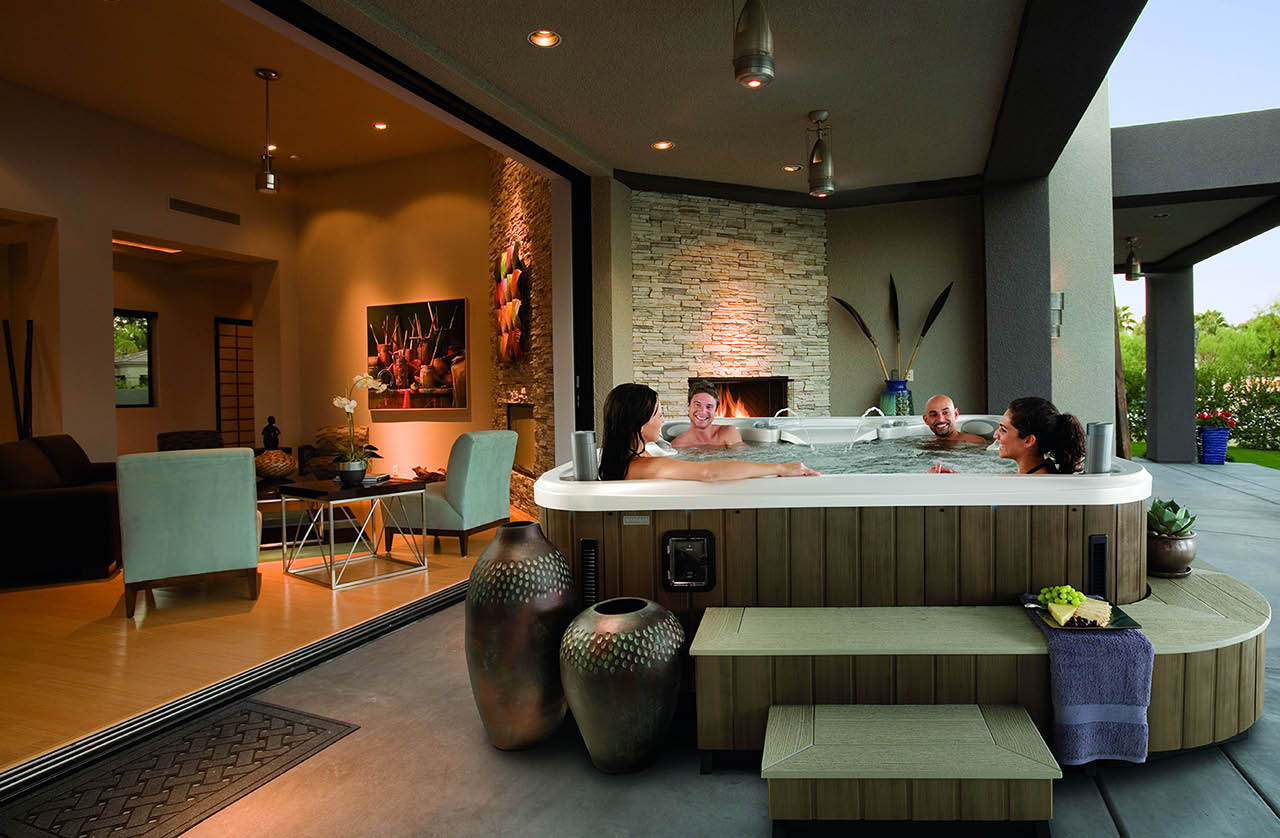 Shelton, WA - Olympic Stove and Spa - large selection of hot tubs and spas - enjoy the hot tub with friends