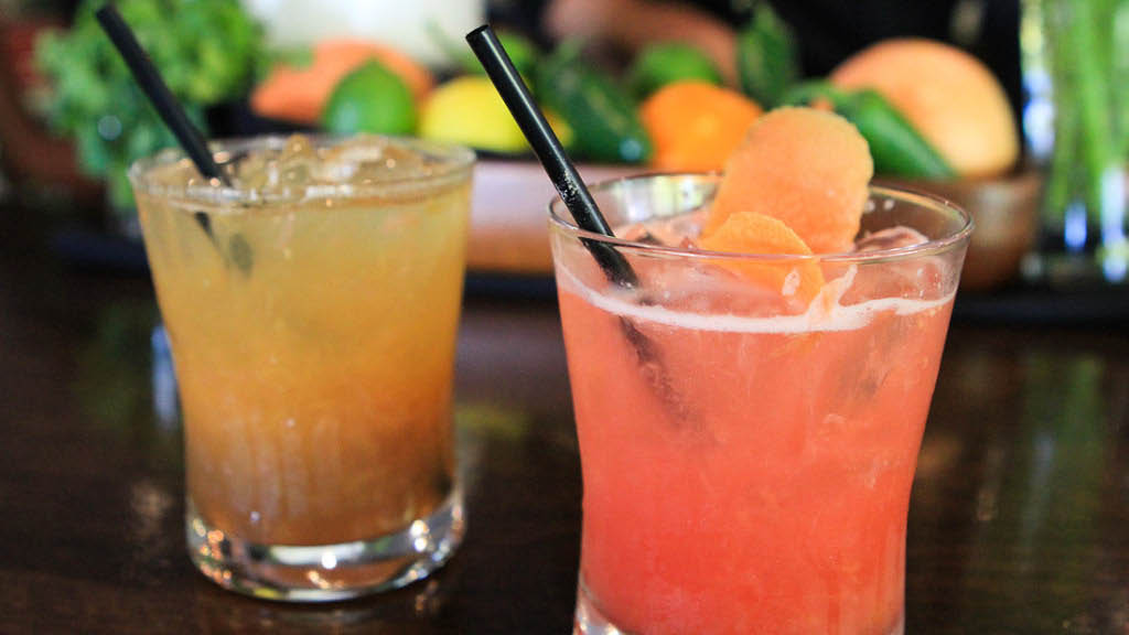 Cocktails and wine available at Hult's Restaurant farm to table dining experience