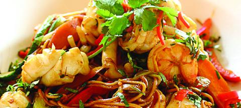 Asian Food Dishes at Hunan Hibachi Buffet in Waukegan, IL