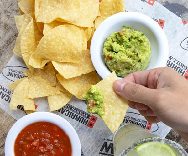 Guacamole, chips and salsa
