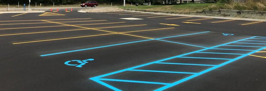 asphalt sealcoat parking lot