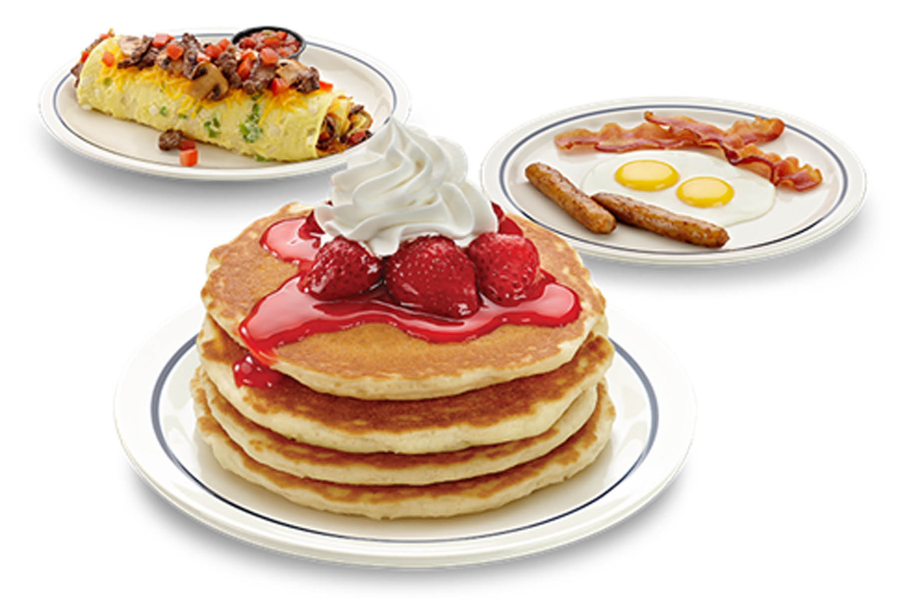 Enjoy on of many IHOP breakfast favorites and specials