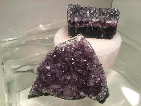 amethyst crystal clusters; zenquility in gainesville, virginia