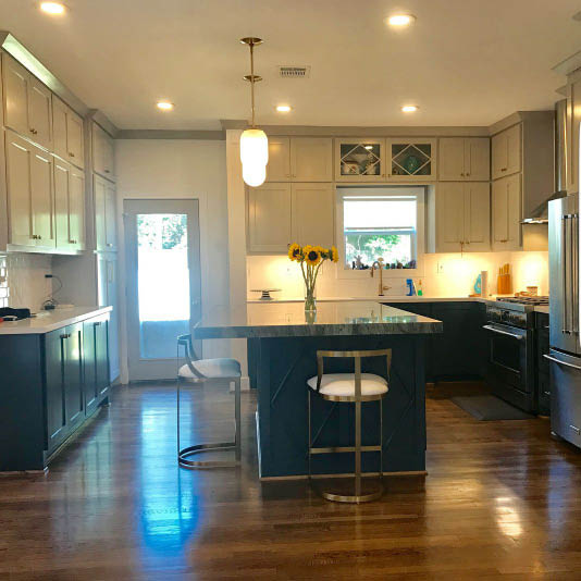 New wood floors and kitchen remodel
