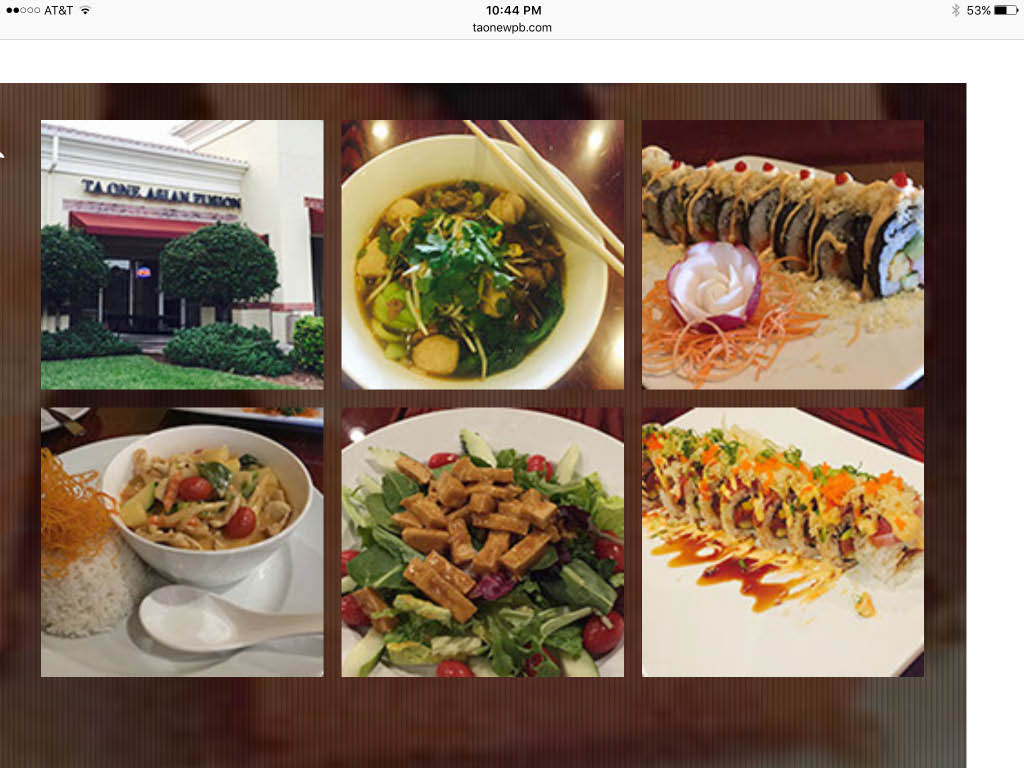 TaOne Asian Fusion food dishes in Lake Worth, FL