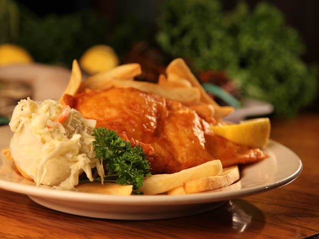 The Best of Rhode Island's fresh fish, lightly battered, served with french fries and coleslaw