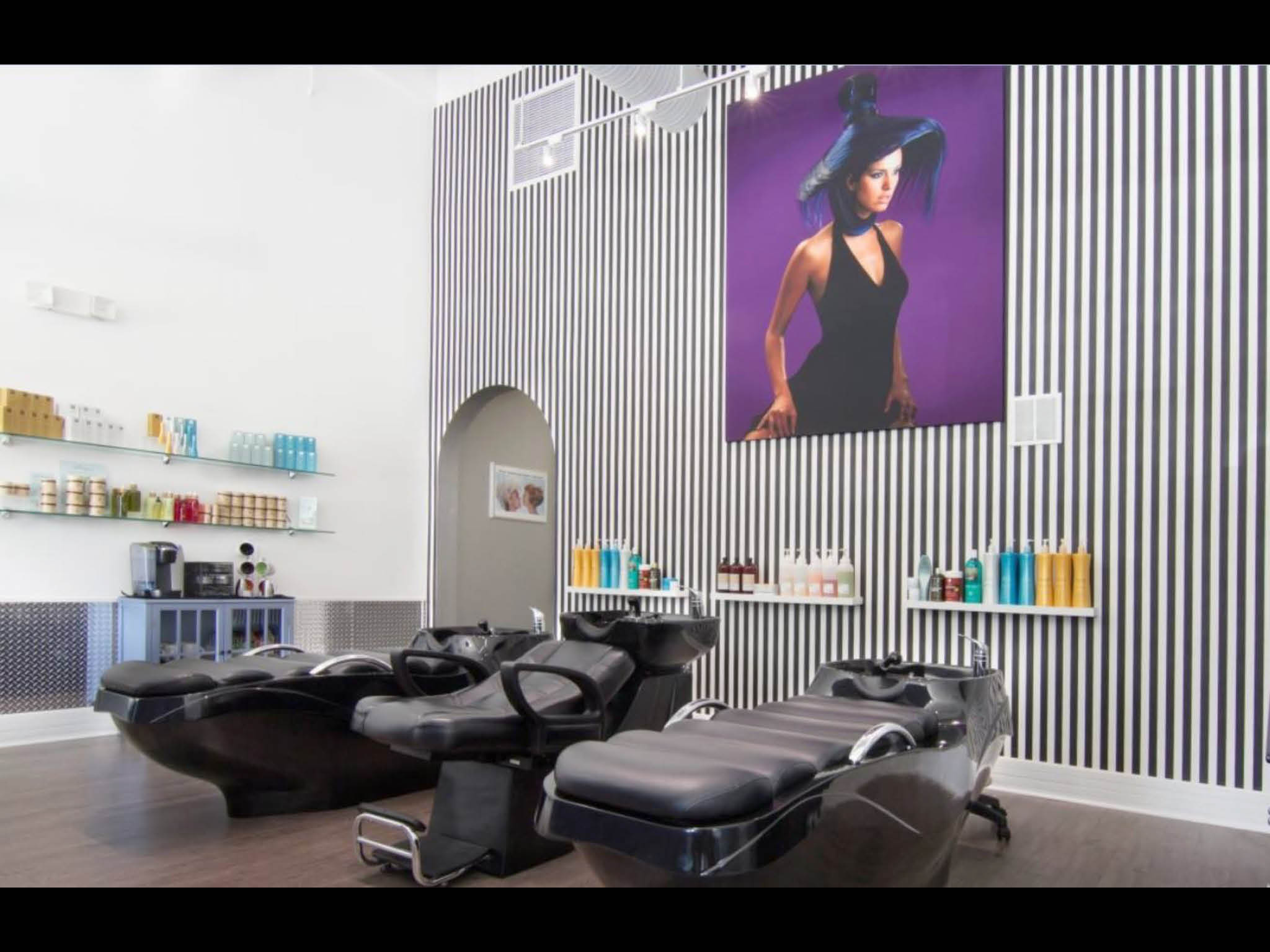 Hair Studio Artists seating area in the salon.