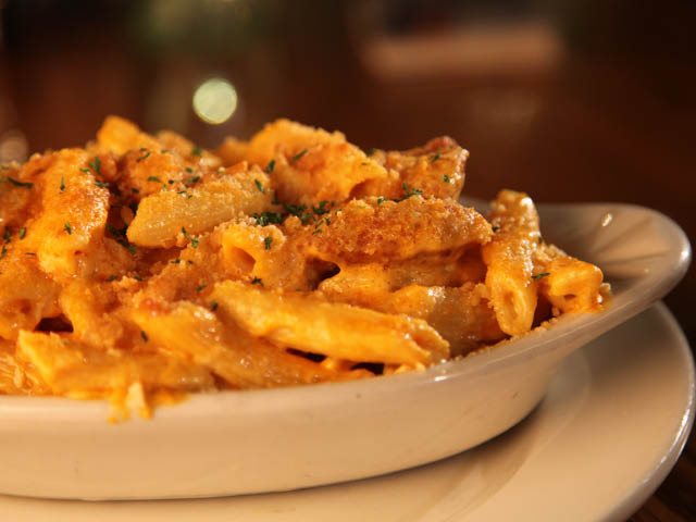 Our homemade five cheese Mac & Cheese tossed with spicy chunks of Buffalo chicken tenders. It's already our staff's favorite and soon to be yours! *Also Available: Five Cheese Mac & Cheese