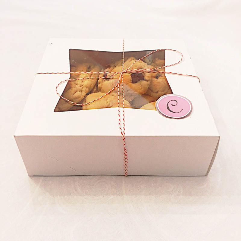 Gift box cookies dessert