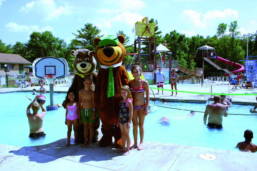 Picture of Jellystone Park Camp-Resort, in Caledonia, Wisconsin, where the family fun never stops.
