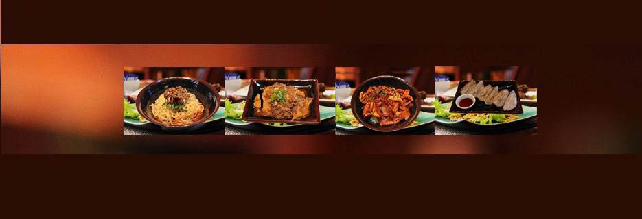 Japanese plated food dishes at Ichiddo Ramen photo banner