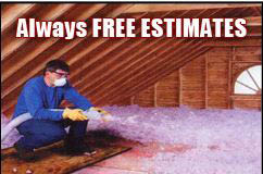 We use spray foam insulation and blown-in fiberglass in Downers Grove, IL.