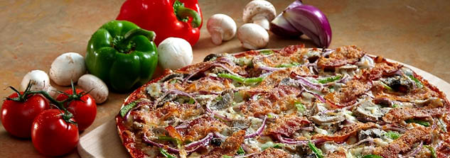 Delicious pizza made from freshly-sourced ingredients