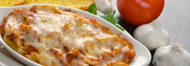 Ramekin of baked ziti - dive-in