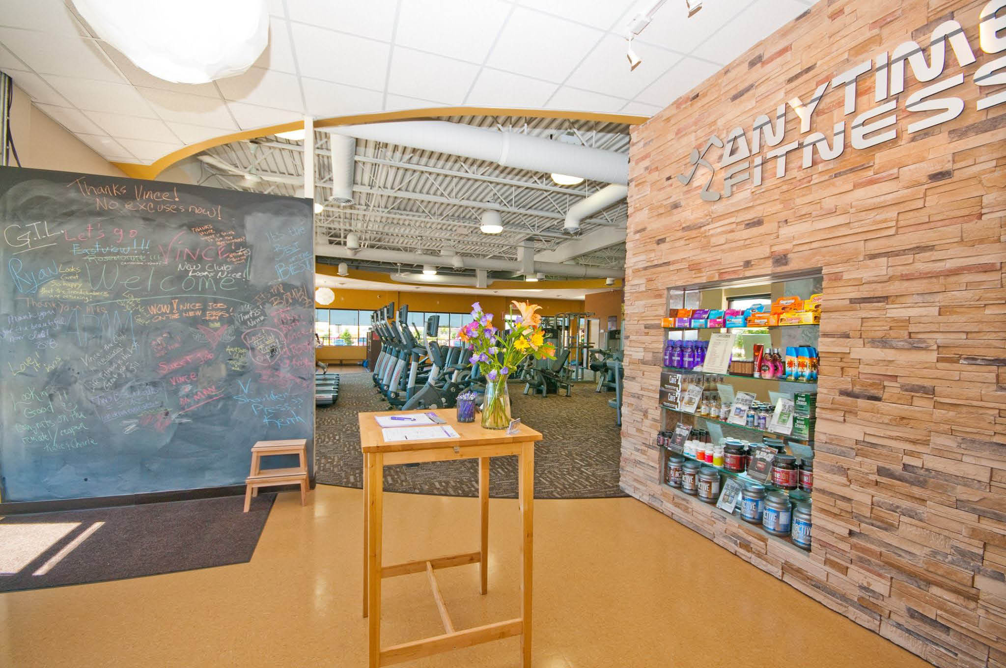 Get to a healthier place - inside of Anytime Fitness - upper Queen Anne, Seattle, Washington