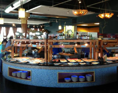 Inside Mika Japanese Buffet in Federal Way, Washington