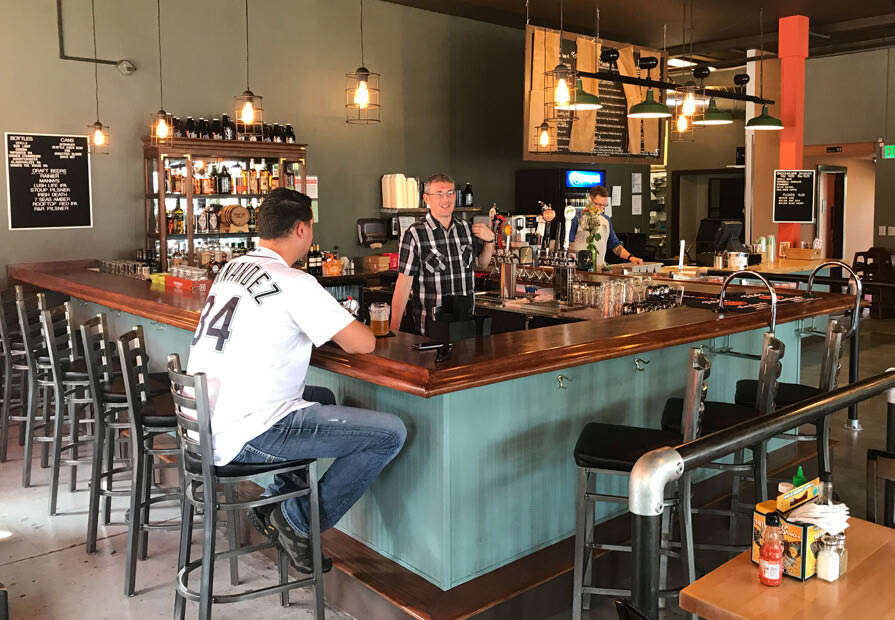 Inside Otter Bar & Burger restaurant in Seattle, Washington - Seattle dining - Seattle restaurants - hamburger restaurant and bar in Seattle