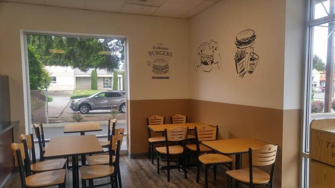Inside Prime 80/20 burgers fries shakes in Tacoma, Washington