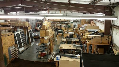 Inside the warehouse of Tesco Teen Screen & Window in Mukilteo, Washington