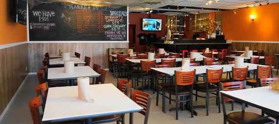 Inside The Cajun Crawfish seafood restaurant in Everett, Washington
