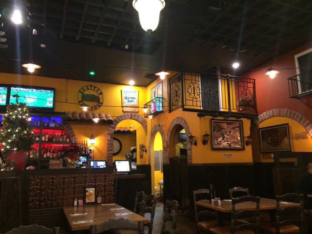 Mexican restaurants near me; full bar; cantina; inside Santa Fe Mexican Grill; Totem Place in Kirkland, WA - Mexican food near me