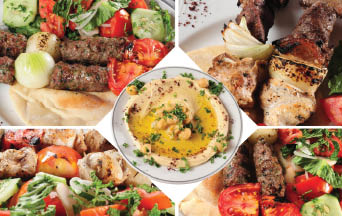 Coupons for our Full Middle Eastern cuisine spread near Wildwood, SC