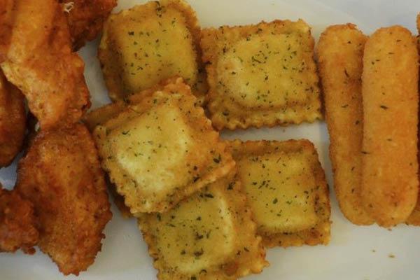 deep fried ravioli, mozzarella sticks & chicken wings