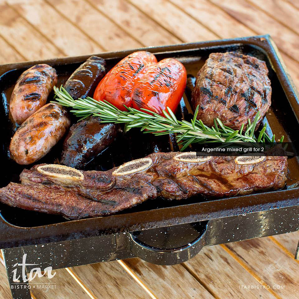 Fresh meats grilled to perfection in the Bistro