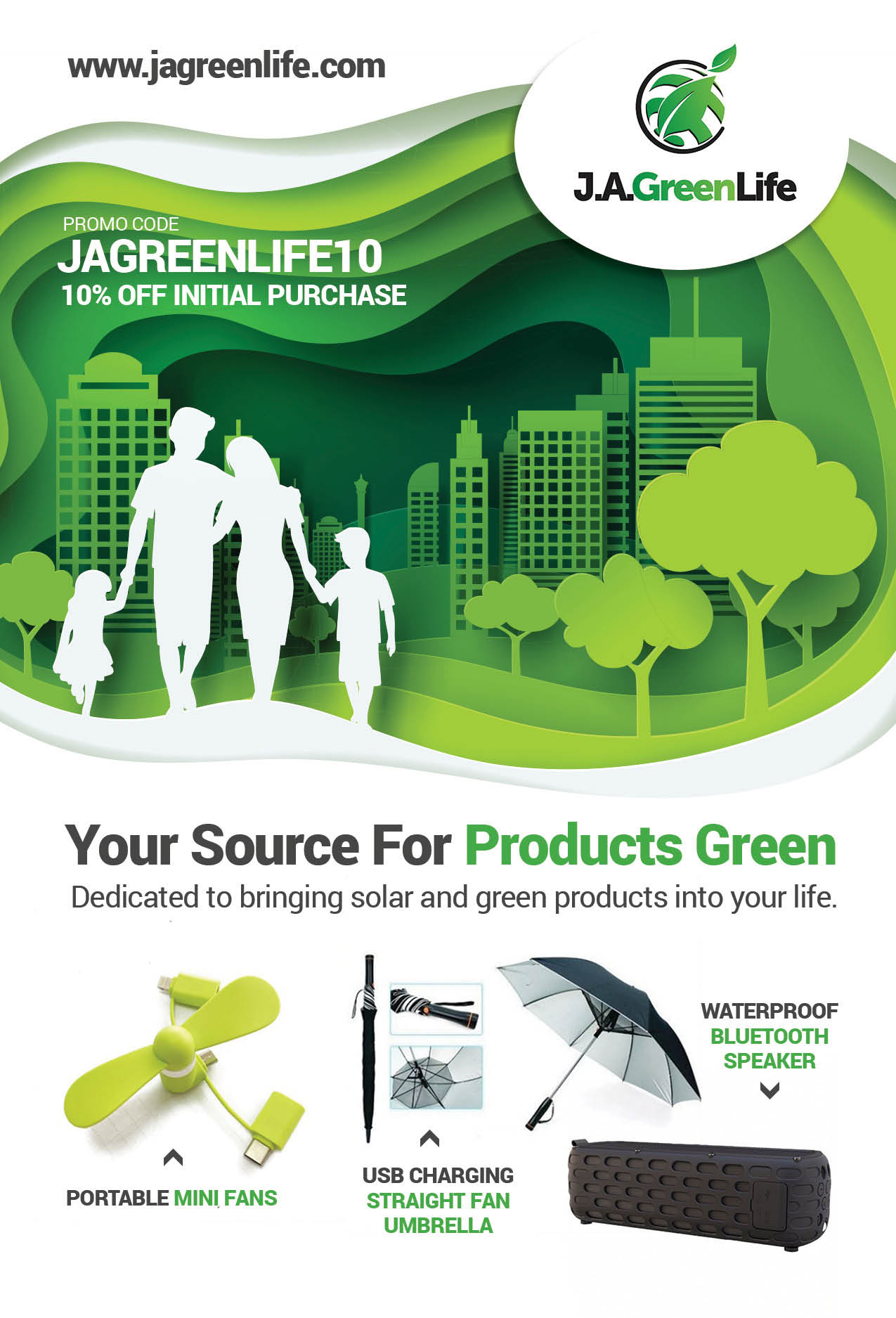Solar powered products for a greener life experience