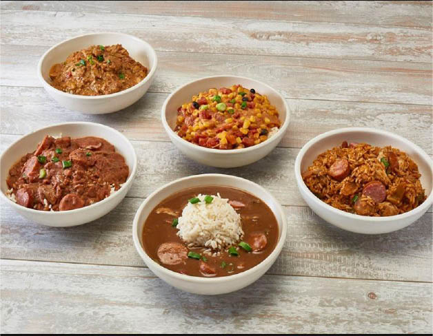 cajun and creole rice, beans, gumbo, fruit cobblers, and soup