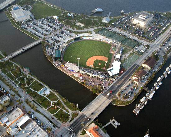 Arial View of Radiology Associates Field at Jackie Robinson Ballpark