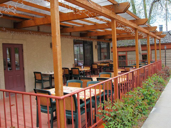 Dine in our outdoor patio or book our private banquet room.