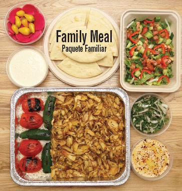 Greek food family meal offerings in Granada Hills