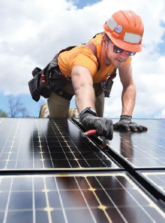 Jeremy's Electric - technician installing solar panels - solar power - solar for less - Tujunga, CA
