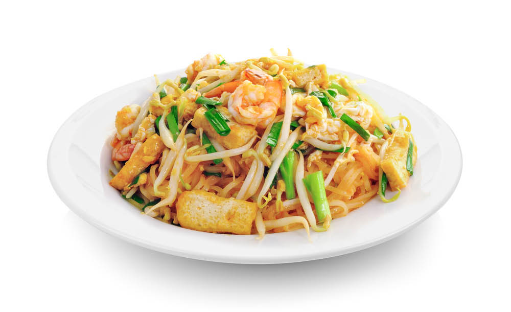 shrimp lo mein, shrimp with Chinese vegetables,