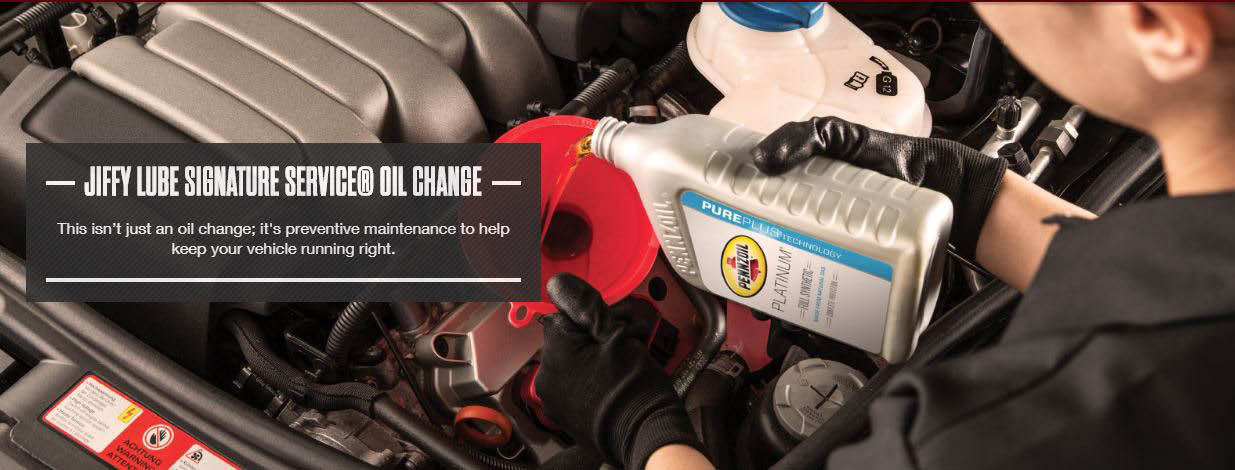 : with a Jiffy Lube Signature Service Oil Change, Jiffy Lube doesn't just change your oil quickly and professionally to the highest industry standards. Jiffy Lube helps you Leave Worry Behind®