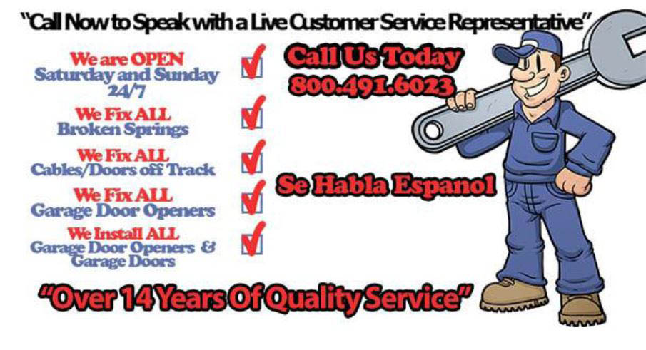 Jimmy's Garage Door flyer for garage door repair in Houston, TX; Garage door repair near me