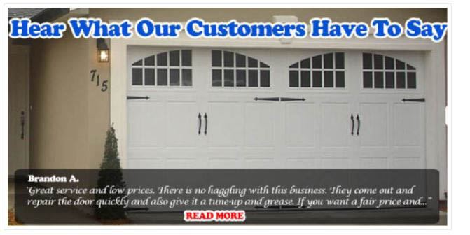 Customer testimony on new garage door installation