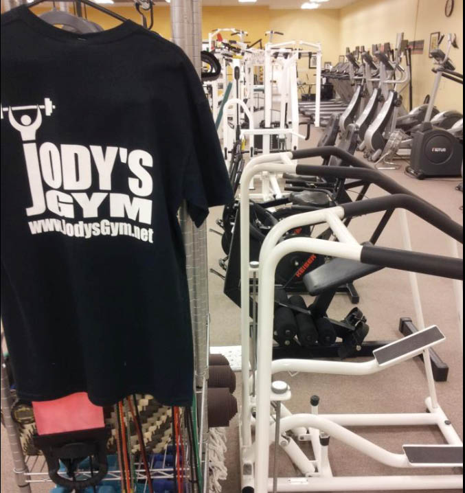 workout equipment Jodys Gym in Fort Worth, Texas