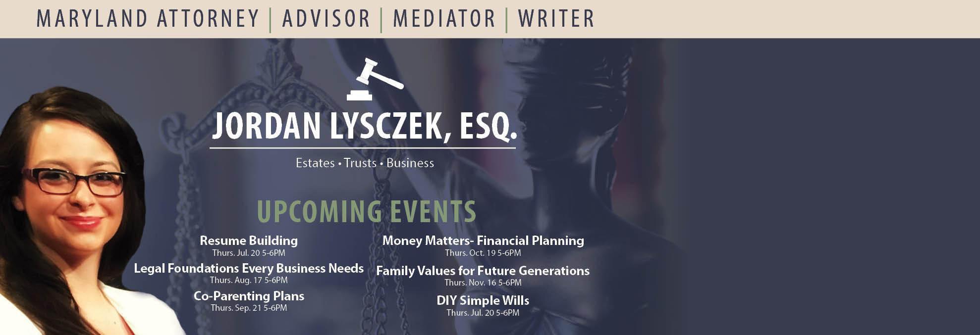 jordan lysczek, esq., family, planning, estates, business, consultation, lawyer, legal help, law