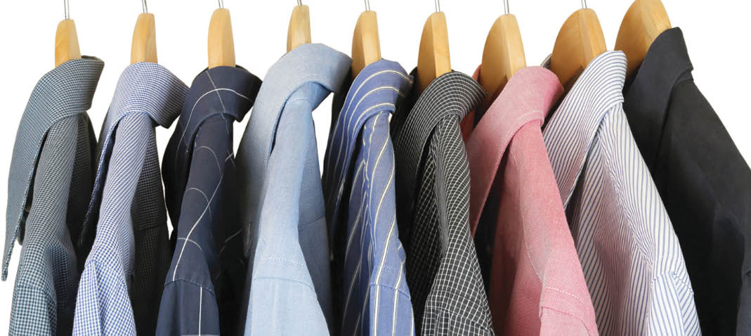 Affordable dry cleaners of men's shirts