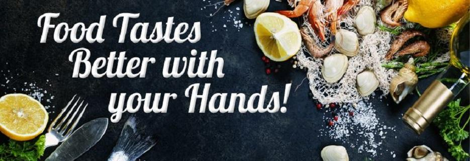Food Tastes Better with your Hands; The Juicy Seafood Restaurant Savannah GA