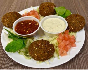 Falafel - a popularMiddle Eastern, Halal vegetarian food