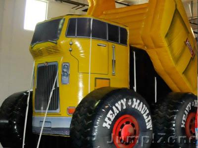 Heavy Haulin Yellow Dump truck Inflatable at Jump Zone!