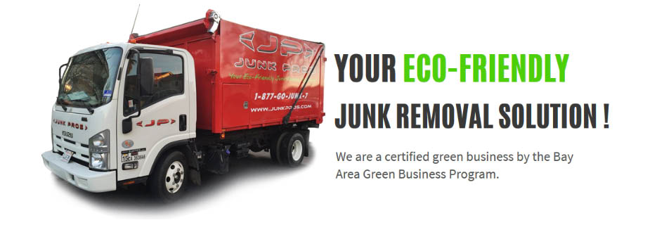 Junk Pros Bay Area Eco-Friendly junk removal solution truck banner