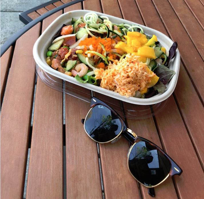 Just Poke - enjoy your Poke bowl as you dine outside in the beautiful weather - Poke restaurants near me - Poke coupons near me