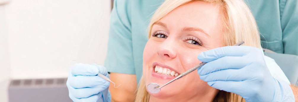 Just Smile Dental main banner image - happy dental patient - Everett Dentists - Everett, WA