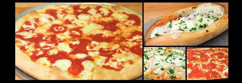 Fresh hand-tossed, oven-baked pizza from Justino's Pizzeria banner