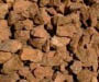 Brown rocks and mulch